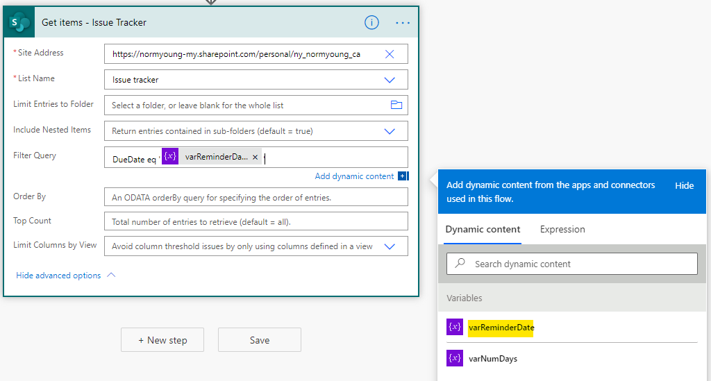 Send email reminders from Microsoft Lists using Power Automate