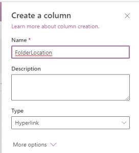 Create a column