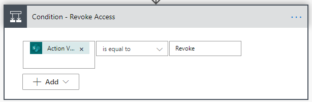 Condition - Revoke Access