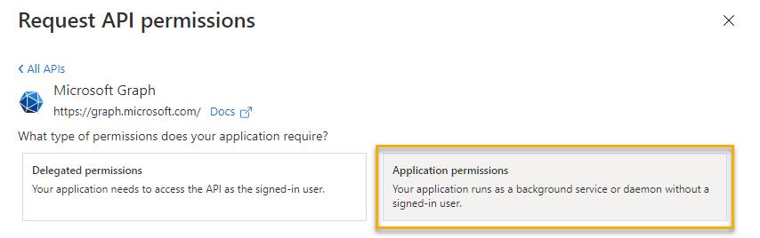 Request API permissions