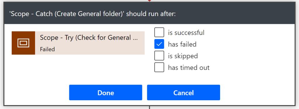 Run after settings