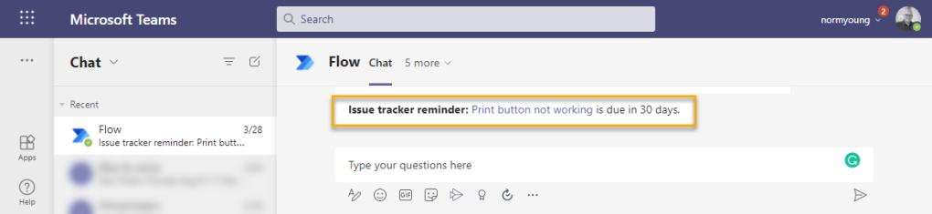 Issue tracker reminder