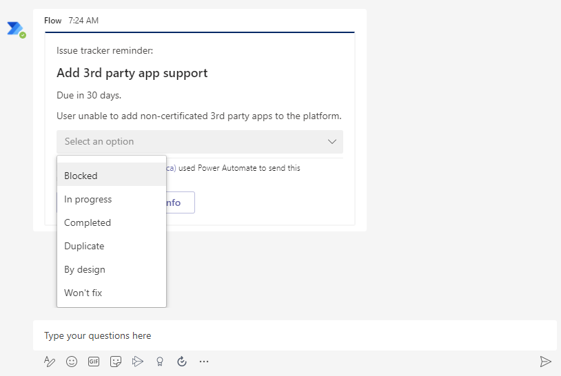 Use Adaptive Cards to Update Microsoft Lists from Teams using PowerAutomate