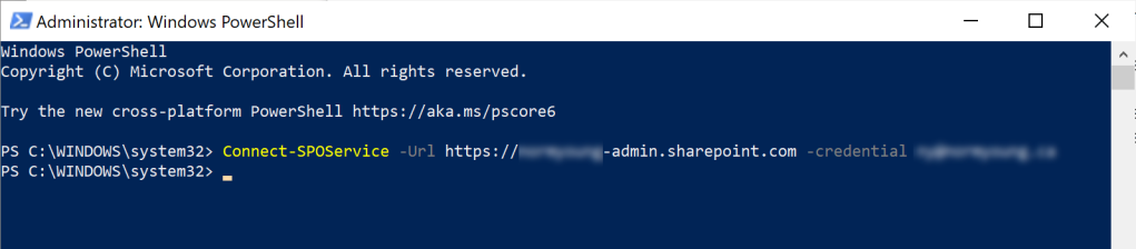 Connect-SPOService cmdlet